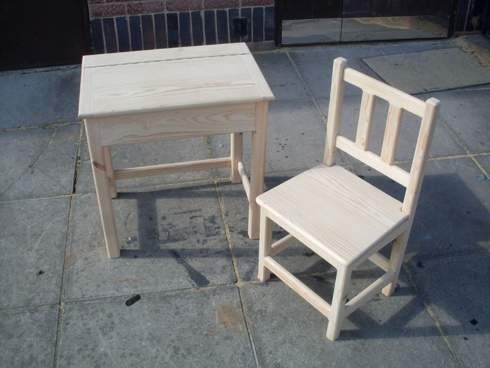 Hand Crafted Childrens Desk And Chair